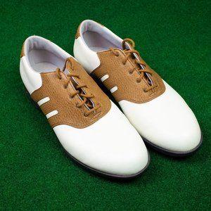 Adidas Camel/White Saddle Golf Cleat